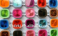 2014 China factory newest best-selling OEM fashion quartz jelly silicone watch