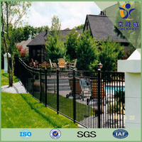Black powder coated aluminum garden edging fence