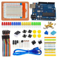 Electronic Circuit Project UNO R3 mini Breadboard Jumper Wire Cable Button Basic DIY Science Starter Kit