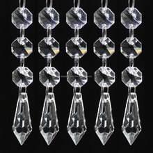 2018 Popular Pretty Diamond Crystal K9 Glass Icicle Transparent Beaded Prism for Club Home Decoration