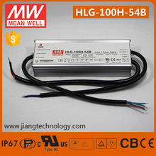 Meanwell LED Dimmable Driver 100W 54V HLG-100H-54B Waterproof LED Lighting Driver