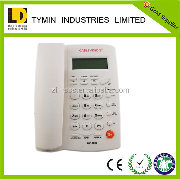 Telephone booth hot selling basic caller ID phone contact number corded telephone desk phone for home / hotel telephone