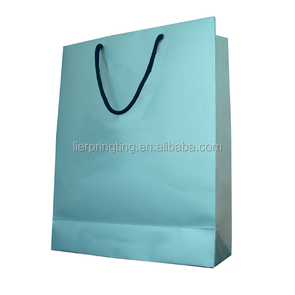 Promotional custom logo printed cheap paper bag shop bags