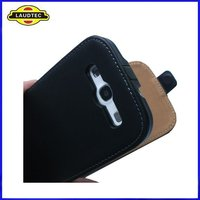 Ultra Slim Genuine Leather Case for Samsung Galaxy S3 i9300, Flip Cover, Laudtec