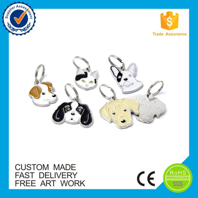 Metal Material and Animal Theme anodized aluminum dog tag