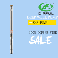3 inchs submersible stainless steel deep well AC water pump