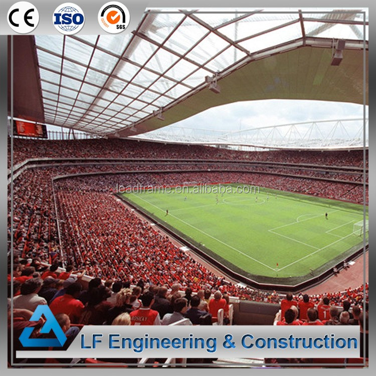 Long Span Light Steel Prefabricated Structure Football Stadium