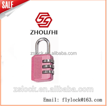 JinHua ZHOUSHI lock pink color Newest design custom combination padlock for safe lock