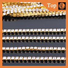 Wholesale rhinestone empty cup chain for decoration