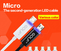 2015 hot and new products product lighted charger cable led micro usb cable for mobile phone
