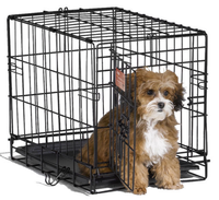 "ISO certification 48"" Folding Pet Crate Kennel Wire Cage Cats or Rabbits"