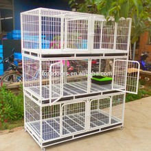 2017 wholesale factory made outdoor metal portable large dog cages