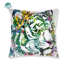 Polyester stuffed jungle animal decorative outddor backrest floor cushions