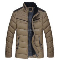 Fashionable and warm winter wadded jacket for man high quality man's down jacket