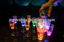 water active lighted up champagne glass for party decoration