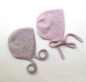 IMF 100% Cashmere Baby Bonnet Knitted Soft Baby Beanie Hat