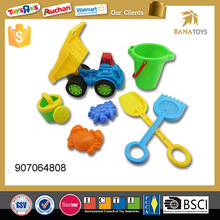Beach plastic toy truck with sand mold