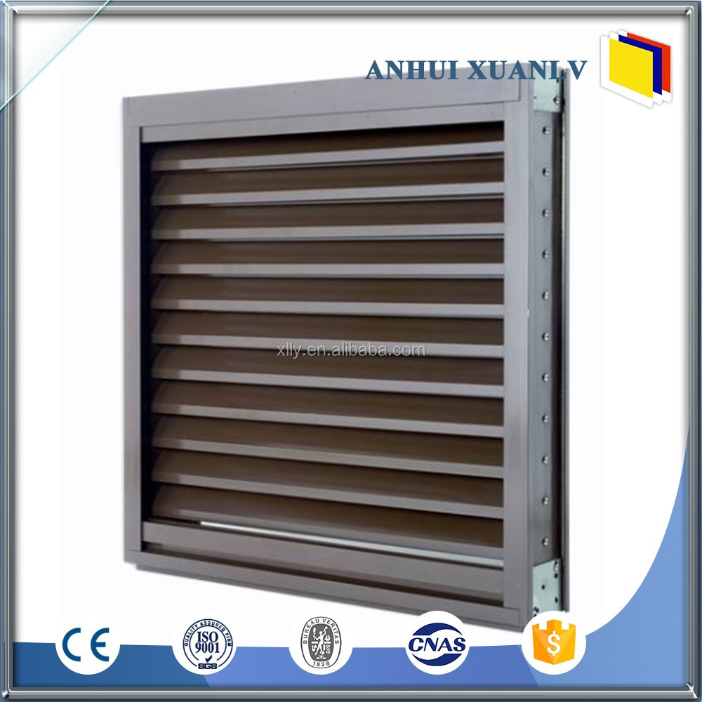 Anodized / powder coated interior security shutters aluminum window louver factory price
