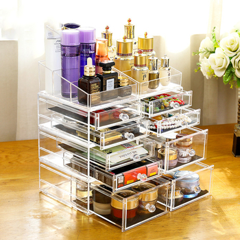 Hot Sale Clear Acrylic Makeup Box Display With Drawer