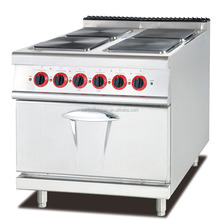 Stainless Steel Electric cooking Range With 4-Hot Plates & Oven