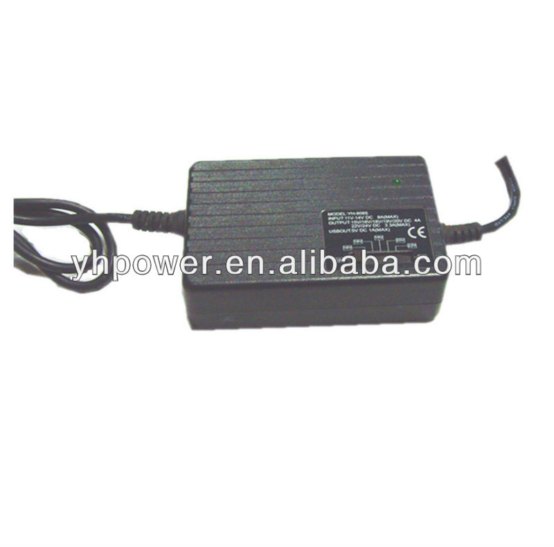 80w manual laptop adapter used for vehicle 15V-24V