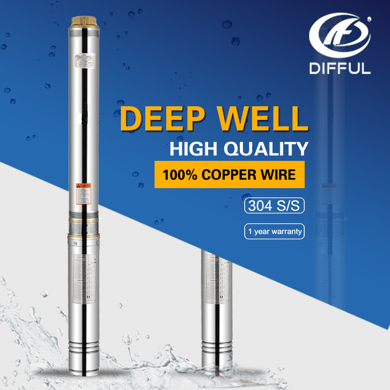 1hp 0.75kw deep well submersible pump for well deep water pump water pumps