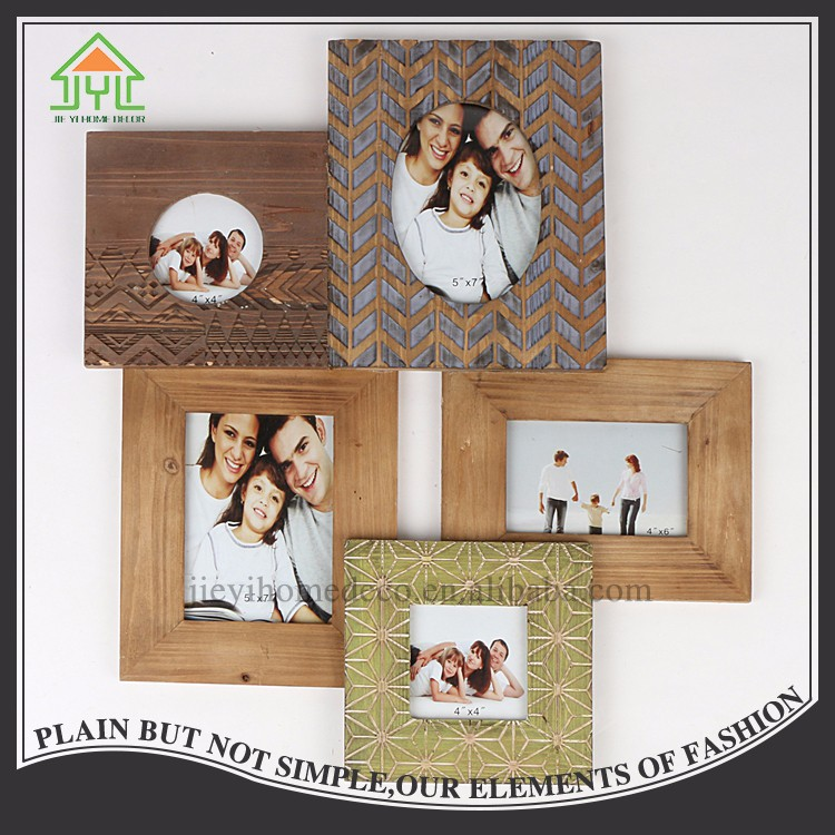 Beautiful Nice Design Preferential 4 Colors Family Changeable Fun Rustic Photo Frame