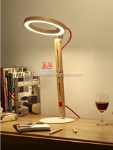 Modeng circle bent legs Foldable LED Table lamp modern office lighting eye protection led wood lamp