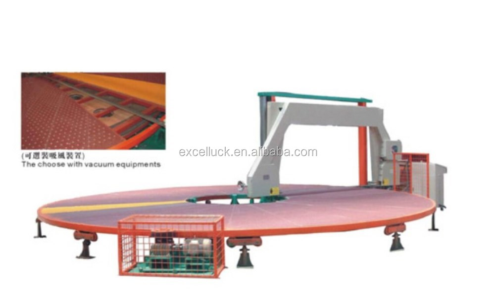 circular horizontal cutting machine sponge foam cutting machine