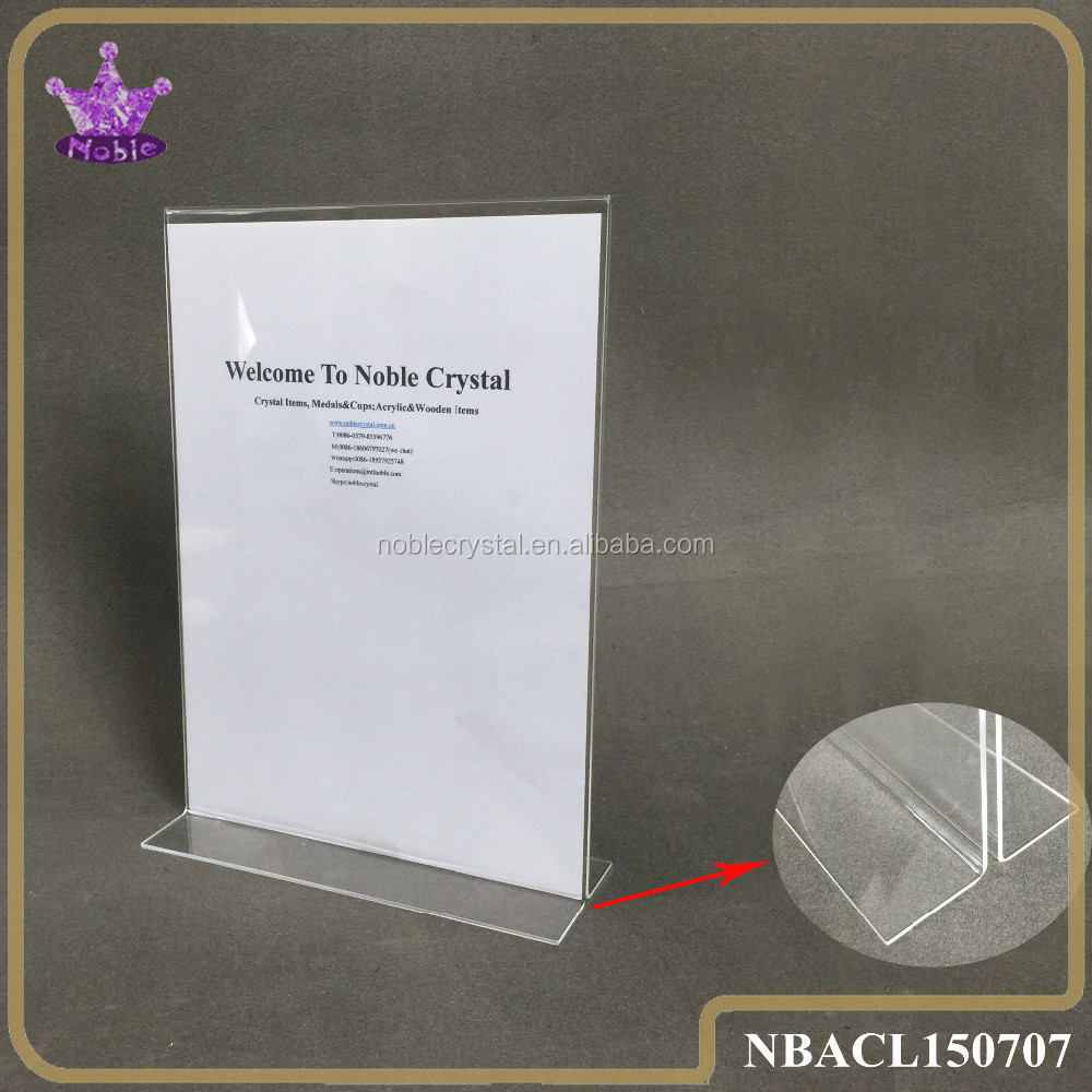 A4 Perspex Stand Clear Acrylic Paper Sign Holder Display Rack