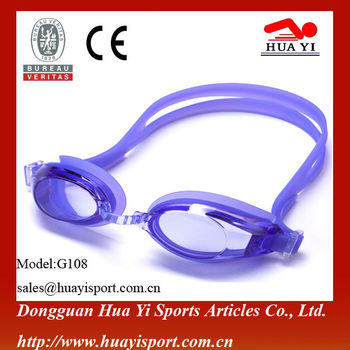 Cheap adult custom quality silicone durable swimming goggles