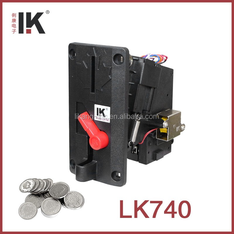 LK740 Plastic coin selector for amusement park game machine