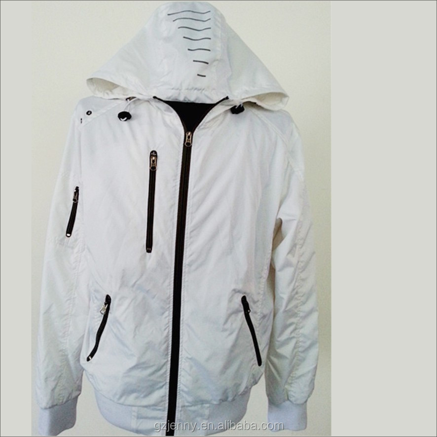 Summer Fashion Men White Red Thin Riding Jacket Wholesale