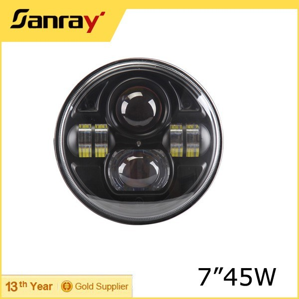 18 Month warranty jeep 4x4 accessories 7inch 45w car led projector headlight DOT approved