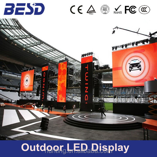 Quality images rental full colour SMD p10 p8 outdoor led display