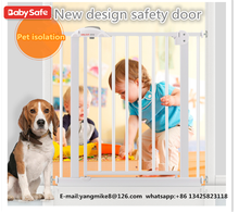 2017 hot sale high quality baby safety gate/baby gate for home stair safety metal pet gate