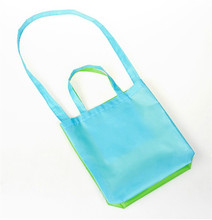 Hot selling polyester tote shopping bag promotional portable single shoulder dual color polyester shopping bag