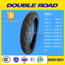 Chinese manufaturer not used black color motorcycle tyre size 60/90-14