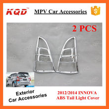 Car Decoration Parts Chrome Matte Black Taillamp Rear Light Back Cover Trims For TOYOTA INNOVA 2013 2014 Accessori