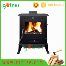 Free-standing cast iron wood burning stove/fireplace