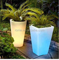 color changing 5W solar power flower pot