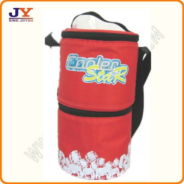 wine cooler plastic bag with compartments