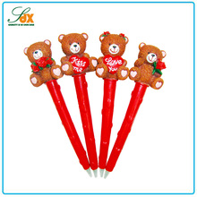Top level top sell resin gifts wedding cute bear pen