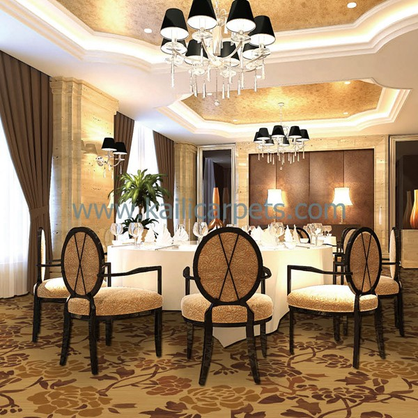 Hot Sell Restaurants Carpet Design with Fine Workmanship