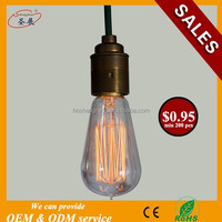 Alibaba Best Sellers Table Lamp Bulb Vintage Edison Bulb ST58 Squirrel Cage Filament Retro Edison Light Bulb For Home Decoration