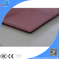 Colorful 10mm Titned tempered laminated glass