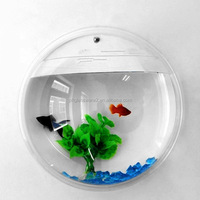 customized size wall hanging acrylic aquarium round fish tank