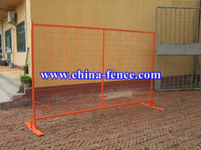 "high visibility safety orange color powder coating 6' H x 9'6"" L temporary fence panels (Canada standard/hot sales)"