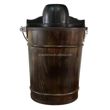 6qt wooden bucket Ice Cream Maker