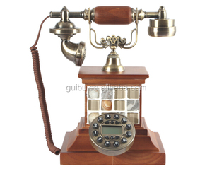 Classical Old Timely Antique Vintage Style Wooden Telephone With Caller Id